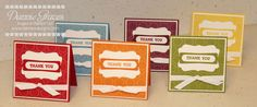 3x3 Thank You Cards by DannieGrvs - Cards and Paper Crafts at Splitcoaststampers