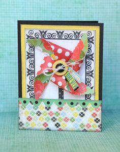 Smile Forever Pinwheel card with #Cricut