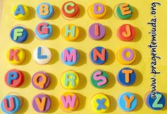 alfabeto com tampinhas pet