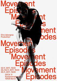 Neubau Posters for Movement Episodes by laborgras (Design: Stefan Gandl/Photograph: Phil Dera)
