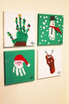 handprint Christmas Crafts Before having kids, Christmas was that glamorous night full of festivities and gifts, delicious food and lots of booze, and back home for the family gathering. Now, with my boys (nady 5 and joud Christmas Crafts For Kids To Make, Christmas Activities, Baby Crafts, Diy Christmas Gifts, Preschool Crafts, Holiday Crafts, Christmas Gift From Baby, Diy Christmas Keepsakes, Christmas Decor
