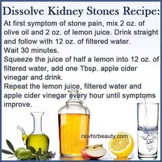 How to get rid of possible Kidney Stones