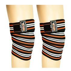 weight lifting knee wraps orange #MRXProducts #kneewraps #fitness