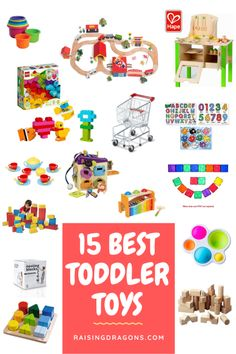 Our list of the best toys for toddlers is ideal for open-ended, creative play and is great for boys or girls toddler gift ideas for birthdays or holidays! Best Toddler Toys, Toddler Gifts, Educational Activities For Toddlers, Educational Toys, Pet Vet, Science Toys, Getting Played, Wooden Train, Wooden Puzzles