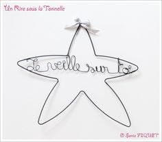 """Le produit Décoration murale en fil de fer """"Ma Bonne Etoile"""" est vendu par Un Rire sous la Tonnelle dans notre boutique Tictail.  Tictail vous permet de créer gratuitement en ligne une boutique de toute beauté sur tictail.com"""