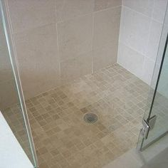 bathrooms - tumbled marble, tiles, frameless, glass, shower, Italian, marble, tumbled marble