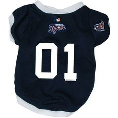 This great-looking jersey features a team logo on the sleeve, scre Baseball Jerseys, Football Fans, A Team, Team Logo, Detroit Tigers, Pet Dogs, Pets, San Antonio Spurs, Mlb