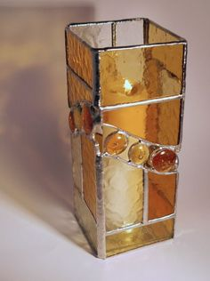 Stained glass candle holder by aftr