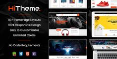 HiTheme – Wonderful Responsive PrestaShop 1.7 Theme If you love simple but nice, this choice is the best for you. SP HiTheme is so clean and bright with smooth display. Do just look at the demo HomePage,think futher, this theme is multipurpose that promotes you create any types of store businesses you run. The appealing