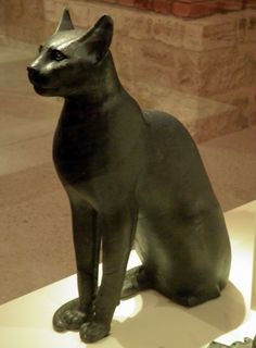 Bastet, a feline goddess of ancient Egyptian religion who was worshipped at least since the Second Dynasty, Neues Museum, Berlin