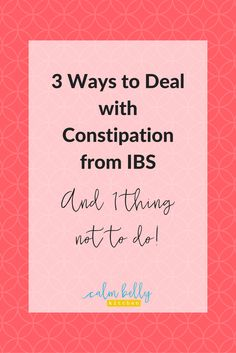Eating a low FODMAP diet may not be enough to manage constipation when you have IBS. Luckily there lots of strategies that really work to manage constipation so you can feel great beat the bloat and have calm belly life. Click through to read the post an Constipation Food, Heartburn, Ibs C, Ibs Fodmap, Fodmap Foods, Ibs Relief, Ibs Symptoms, Plan For Life, Specific Carbohydrate Diet