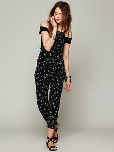 Flynn Skye Black Ditsy Overall http://www.freepeople.co.uk/whats-new/black-ditsy-overall/