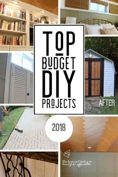 Budget home improvement ideas are our specialty and our readers agree! These are our top 10 visited DIY projects from Also included are our top 10 budget-friendly ideas of all time! Diy Projects On A Budget, Diy On A Budget, Easy Projects, Project Ideas, Decorating Your Home, Diy Home Decor, Room Decor, Frugal Family, Frugal Living