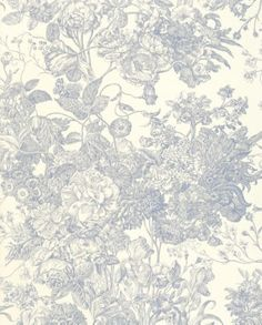 Toile Florissante Fabric  		It's hard to go wrong with a touch of toile, and this floral design is a particularly pretty rendition of the classic print. Try pairing it with more modern patterns for an eclectic take. more »  		 F. Schumacher & Co.  #fabrics #textiles
