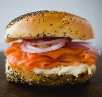 Russ & Daughters - the ultimate smoked salmon and bagel sandwich