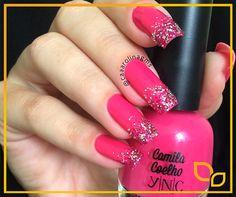 #unhas de @caaarolinagms (instagram) #esmaltes YNC Forever Pink by Camila Coelho #Yenzah