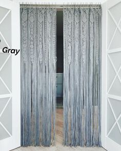 Large Macrame Door Curtains of 2 or 1 Panels, Macrame Window Curtain, Large Macrame Wedding Alter, Macrame Wall Hanging, Boho Altar Backdrop Curtains For Closet Doors, Beaded Door Curtains, Doorway Curtain, Macrame Curtain, Bedroom Doors, Closet Bedroom, Window Curtains, Curtain Closet, Gypsy Curtains