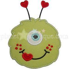 Valentine Monster Applique