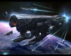 Galaxy Saga_Space ship Tlaloc_adv by moonworker1.deviantart.com on @deviantART