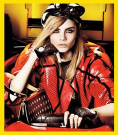 See all trends in my blog: http://www.fashiondupes.com/2013/10/15-fall-fashion-trends-with-cara.html #trend #cara #caradelevingne #delevingne #fashion  #bright #color #colour #coat #jacket