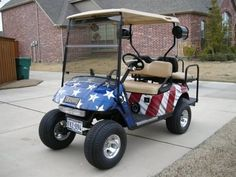 Golf Carts - Patriotic golf cart - Dont like to top though.