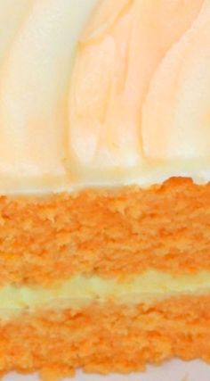 DELICIOUS Homemade Orange Dreamsicle Cake Recipe ~ The flavor is amazing, and the orange filling and orange cream cheese frosting are a fabulously flavorful compliment.