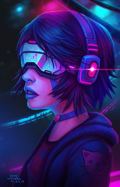 cyberpunk girl by AyyaSAP on DeviantArt