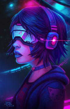 Timelapse Video: Cyberpunk by AtTheSpeedOfFetus. #Cyberpunk #Art #gosstudio .★ We recommend Gift Shop: http://www.zazzle.com/vintagestylestudio ★