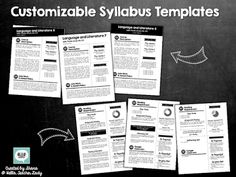 Add a layer of visual interest to your course syllabus with this customizable syllabus template pack! Includes 3 front page templates and 3 second page templates to choose from, so you can mix & match to fit your style and course needs. First Week Of School Ideas, Back To School Night, Teaching Methods, Teaching Strategies, Teaching Ideas, Middle School Classroom, Middle School Science, Syllabus Examples, Syllabus Template