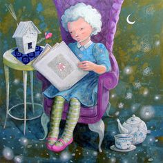 comfortable chair, good book and a pot of tea...perfect!
