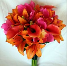 Bouquet #Tropical #Destination #Wedding Mine  but with more of the vibrant colors of MOH's bouquet