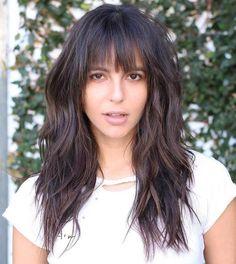 Straight, Textured Bangs - Short hair with bangs - Textured Bangs, Textured Haircut, Asymmetrical Bangs, Long Textured Hair, Oval Face Haircuts, Haircuts With Bangs, Short Hair With Bangs, Long Hair Cuts, Tutorials