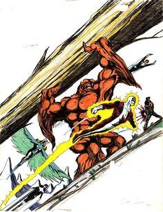 Alpha Flight | Marvel Comics of the 1980s: 1984 - Jae Lees early Alpha Flight sketch