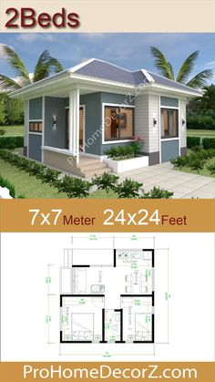 Best Small House Designs, Modern Small House Design, Tiny House Design, House Design Plans, Small Contemporary House Plans, Small Modern Home, Small House Floor Plans, Beach House Plans, My House Plans