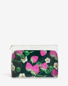 Large strawberries and cream wash bag - White | Outlet | Ted Baker UK