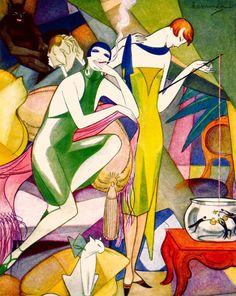 metropolis berlin by jeanne mammen, 1920s (via internetweekly.org)