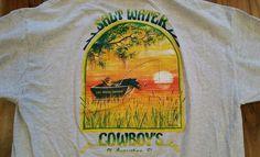 Saltwater Cowboys T-Shirt tee shirt Men's XL St. Augustine Florida Fishing Boat #Gildan #GraphicTee