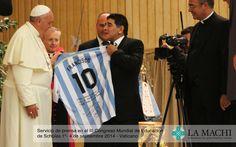 El Papa Francisco y Maradona, Partido por la Paz en el III Congreso Mundial de Educación de Scholas