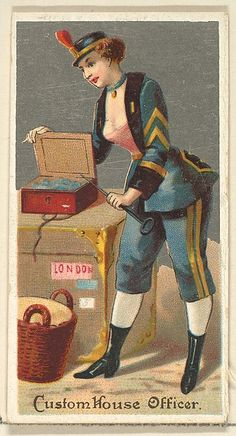 """The """"Occupations for Women"""" series of trading cards was issued by Goodwin & Company in 1887 to promote Old Judge and Dogs Head Cigarettes. The Metropolitan Museum of Art owns all 50 cards in the series, as well as three duplicate cards Vintage Photographs, Vintage Images, Cigarette Brands, Sewing Cards, Steampunk Accessories, Vintage Artwork, Metropolitan Museum, Retro, Custom Homes"""
