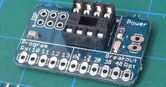 Simplify  programming and building with the Attiny85 microcontroller with this Programmer & Breakout Board!