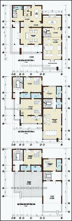 Mặt bằng kỹ thuật tham khảo dành cho mẫu nhà biệt thự đẹp 3 tầng 142m2, Thiết kế nhà đẹp hiện đại