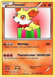 Pokémon Fennekin 434 434 - Birthday - My Pokemon Card