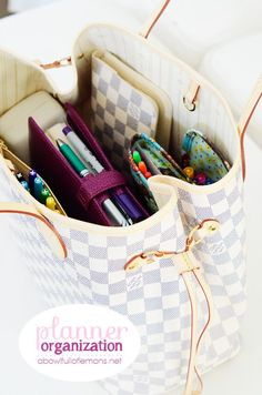 Make your planner work for you! Great tips on what to stock your planner with to make it work to its full potential. Via A Bowl Full of Lemons
