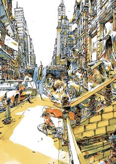 Belgium-based illustrator Sam Vanallemeersch has created a series of stunning illustrations. Beautiful and detailed, Vanallemeersch's. Monuments, Amazing Drawings, Ghost In The Shell, Urban, Online Gallery, Illustrators, Cool Art, City Photo, Illustration Art