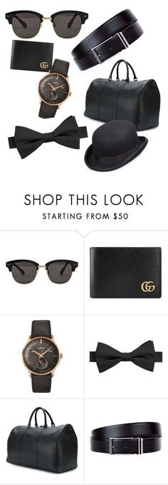 """""""Male Accessories"""" by connieimageconsultant on Polyvore featuring Gentle Monster, Gucci, Longines, William Rast, Valentino, HUGO, Scala, men's fashion and menswear"""