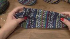 Kurz pletení ponožek na jedné kruhové jehlici od špičky (1. díl)  Knitti...