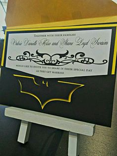 Batman wedding invitation.