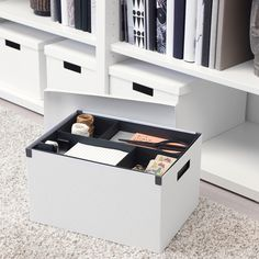 IKEA Quality furniture at affordable prices. Find everything from smart storage solutions, mattresses, textiles, wardrobes to kitchens & more. Be inspired and find the perfect products to furnish your life. Storage Boxes With Lids, Small Storage, Storage Chest, Recycling Process, Ideas Para Organizar, Waste Paper, Living Room Storage, Box With Lid, Desk Accessories