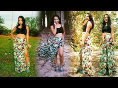 Sabia que você pode transformar aquela saia que ficou abandonada no seu armário em uma blusa ciganinha linda? A Celina Spolaor ensina como fazer!