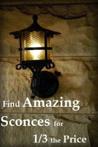 How to find sconces for your DIY/Home project for WAAY less.  Good to know!